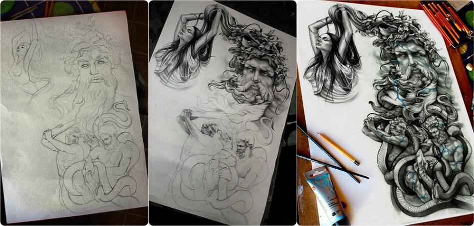 Как из сделать эскиз татуировки 76